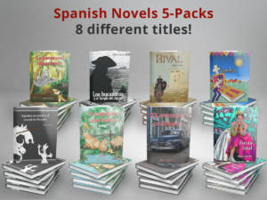 Spanish Novels 5-pack stacks
